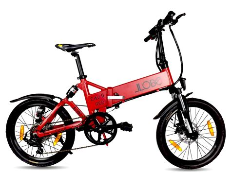 E Bike City by Llobe Erwachsene 20 Zoll Alu Falt E Bike City Ii Mattrot