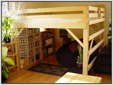 queen bed loft frame  ideas  queen loft beds