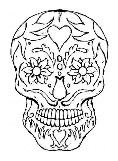 printable coloring pages sugar skulls sugar skull coloring pages bestofcoloring com