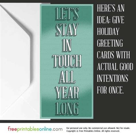 lets stay  touch greeting card   printables