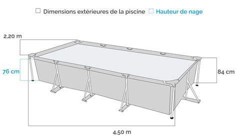 matratze 1 20 x 2 m piscine intex metalframe 4 50 x 2 20 x 0 84 m epurateur