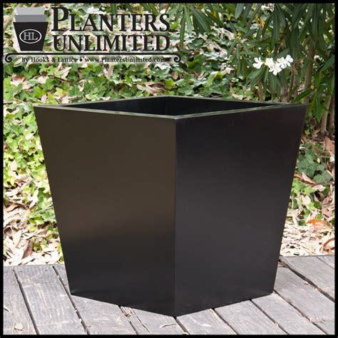 Black Planters by Tapered Planters Black Planters Custom Planter Sets
