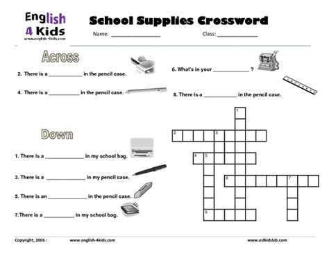 College Letter Earners Crossword Free Worksheets 187 School Items Worksheet Free Math Worksheets For Kidergarten And Preschool
