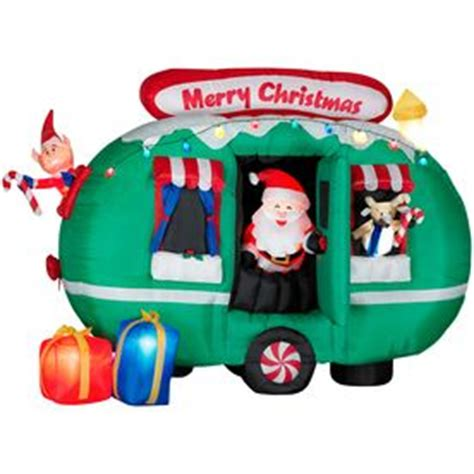 gemmy 6 inflatable santa in rv 87076 yard decorations yards and ebay on
