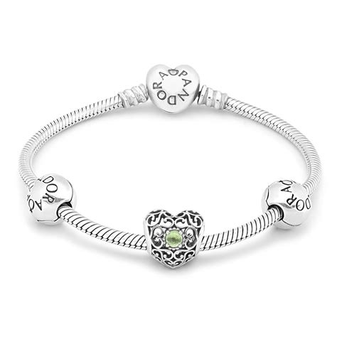 PANDORA August Birthstone Bracelet B800303   John Greed Jewellery