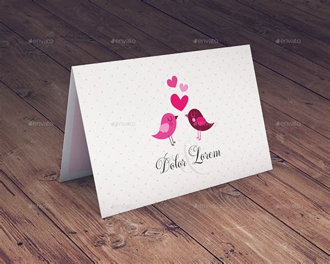 Greeting Card Mockup Template by Invitation Greeting Card Mockup By Goner13 Graphicriver