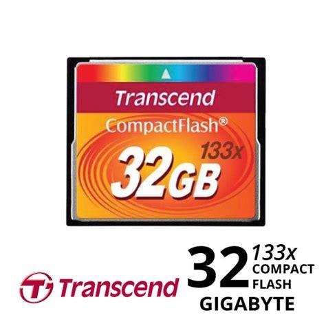 Transcend Compact Flash 32gb 133x transcend compact flash 32gb 133x harga dan spesifikasi