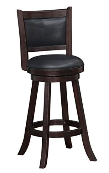 29 inch wood bar stools with back boraam 66729 rhea swivel bar stool 29 inch hazelnut