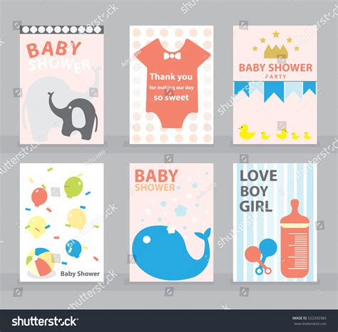 baby shower greeting card template baby shower greeting card happy birthday stock vector