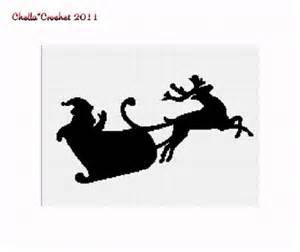 chella crochet pattern graph santa claus reindeer