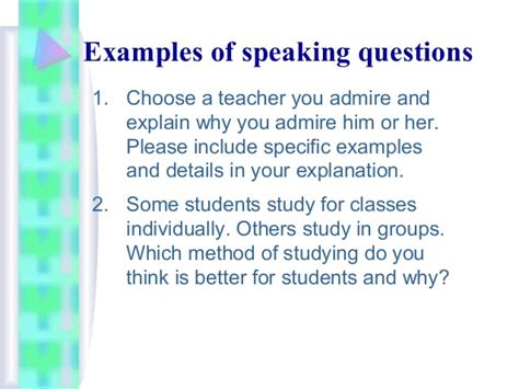 speaking section in toefl overview of the toefl ibt