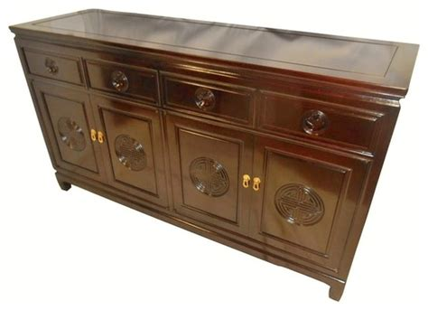 Solid Rosewood Long Life Carved Buffet 60 Inches Wide Asian Sideboards And Buffets