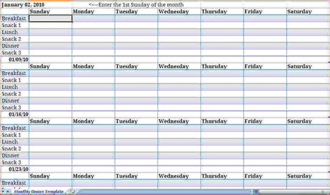 monthly meal planner template bookletemplateorg