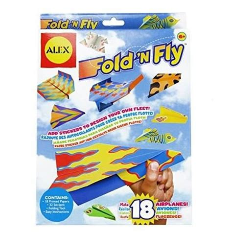Fold N Fly Paper Airplanes - fold n fly paper airplanes kit epic toys