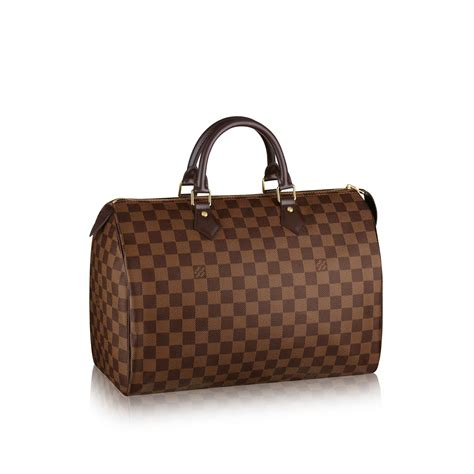 Louis Vuitton 5148 1 speedy 35 damier ebene canvas handbags louis vuitton