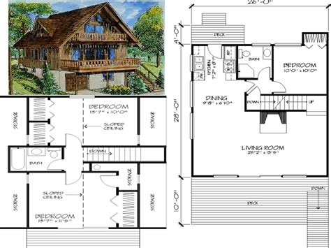 chalet floor plans and design house plan w3914a detail from drummondhouseplanscom 1000