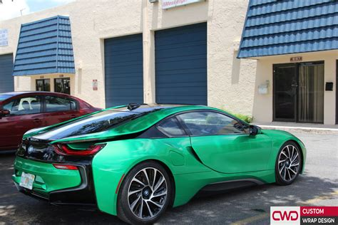 BMW i8 Gloss Envy Green Wrap
