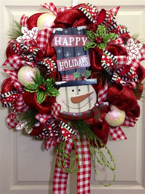 christmas items you tube wreaths snowman wreath snowball mesh tutorial trendy tree picmia