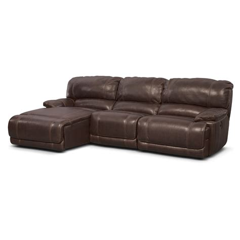 reclining sofa with left chaise st malo 3 power reclining sectional with left