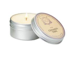 Candle Tins Cinnamon Tabac Soy Travel Tin Candle