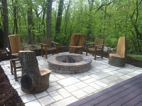 patio made from recycled concrete backyard concrete