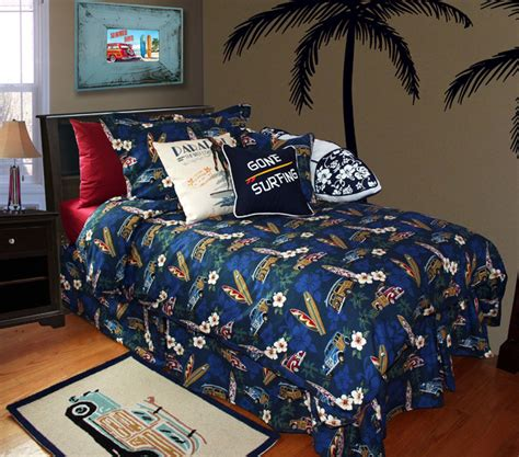 surf comforter hawaiian bedding beach style bedroom orange county