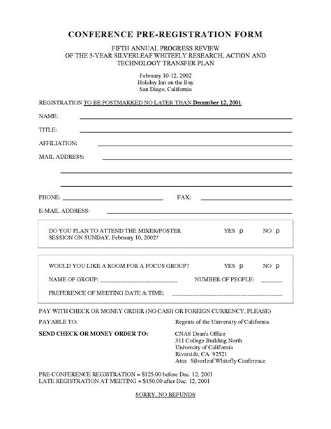 retreat registration form template best photos of s conference registration form