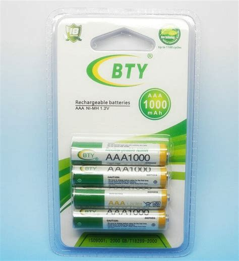 Baterai Cas aaa 1350mah rechargeable bty 4 pieces 1 2v