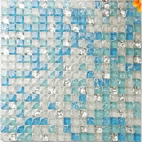 sea glass mosaic tile bathroom sea blue tile backsplash crystal glass mosaic crackle