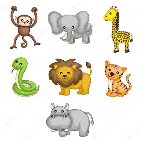 imagenes vectores de animales dibujos animados de animales salvajes vector de stock