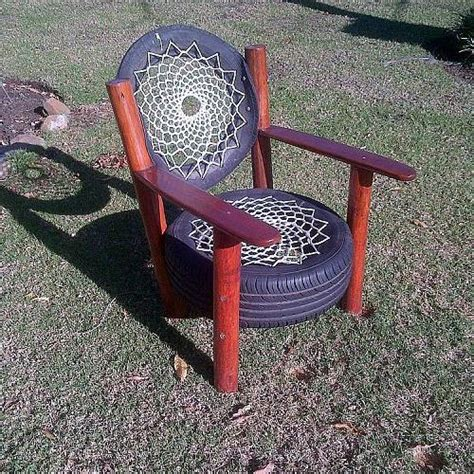 What Makes A Chair by Hometalk Recycled Tyre Chair Rocky Road Backpackers