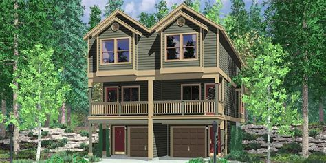 Townhouse Plans Narrow Lot by Narrow Lot Townhouse Plans Duplex House Plans 3 Level D 519