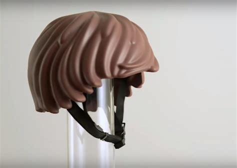 helmet hair cycling lego minifig hair bicycle helmet geekologie