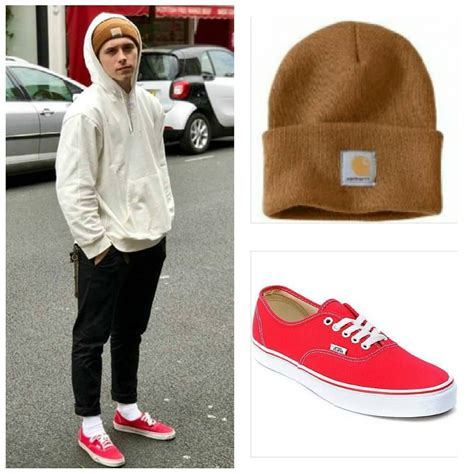 wearing skate shoes brooklynbeckham wearing vans authentic sneakers in