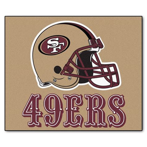 49ers rug fanmats san francisco 49ers 5 ft x 6 ft tailgater rug 5838 the home depot