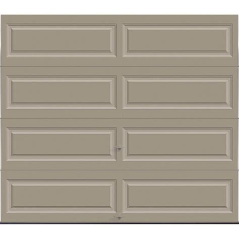 9 Ft Garage Door Clopay Premium Series 8 Ft X 7 Ft 12 9 R Value Intellicore Insulated Solid Sandstone Garage