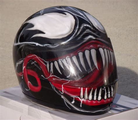 venom custom airbrush painted motorcycle helmet ebay
