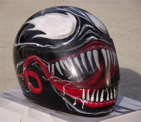 Helm Schwarz Lackieren by Venom Custom Airbrush Painted Motorcycle Helmet Ebay