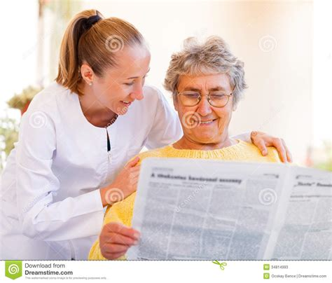 elderly home care stock photos image 34814993