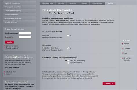 Audi Online Banking by Audi Bank Girokonto Erfahrungen Test Testbericht Lesen