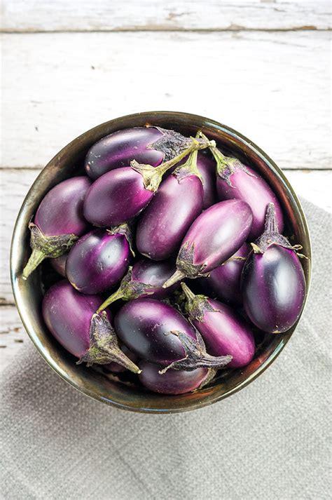 roasted mini eggplants recipe bound  food