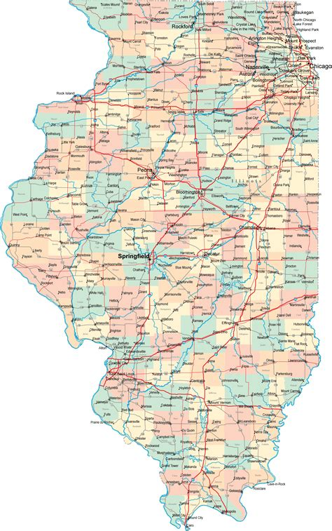 map of illinois illinois road map il road map illinois highway map