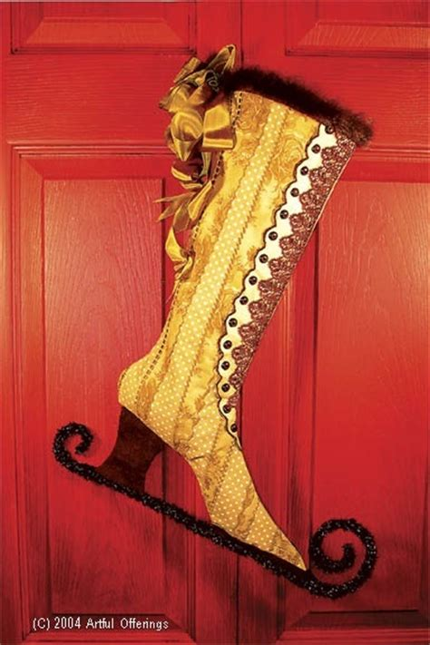 pattern for victorian christmas stocking victorian skating boot stocking steunk ren fair