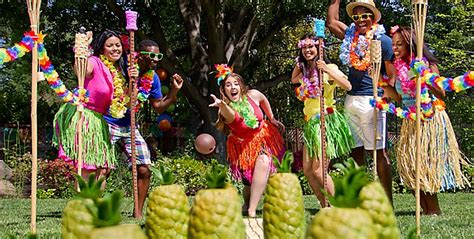 hawaiian themed games luau party games toys luau limbo game party city