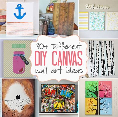 diy canvas projects diy canvas wall ideas 30 canvas tutorials