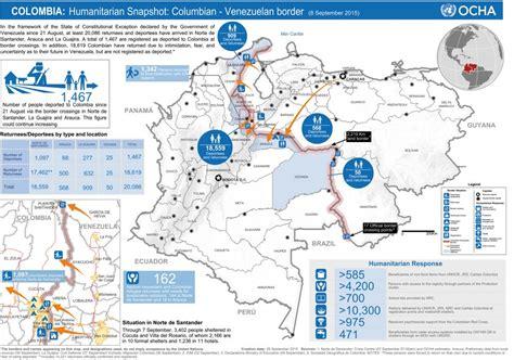 imagenes frontera venezuela colombia humanitarian snapshot sep 08 2015 situaci 243 n frontera