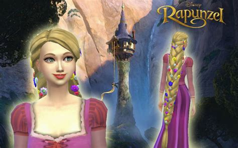 Rapunzel Hairstyle by Sims 4 Hairs Mystufforigin Rapunzel Braid Hairstyle