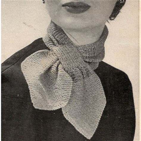 ascot scarf knitting pattern just skirts and dresses 1952 crocheted ascot cravat
