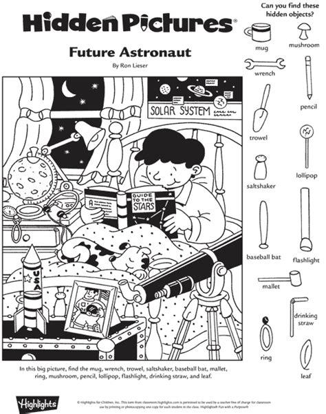 highlights printable hidden object puzzles future astronaut hidden pictures puzzle hidden pictures