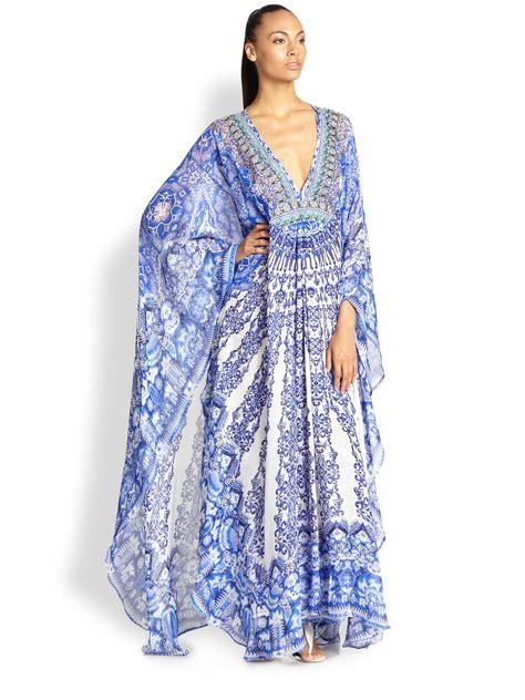 Kaftan One Souldel 1 camilla power of prayer silk maxi kaftan lyst